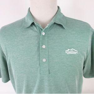 Travis Mathew Large Golf Polo Shirt Solid Green